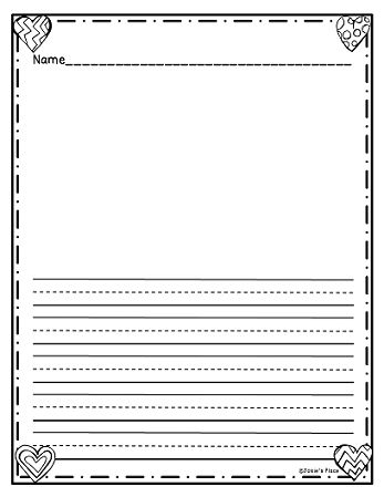 FREEBIE! WRITING PAPER FOR FEBRUARY! Check out more creative writing paper for your students.
