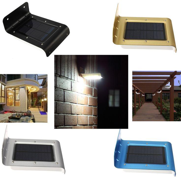 16 LED Solar Power Motion Sensor Wall Light Garden Yard Waterproof
