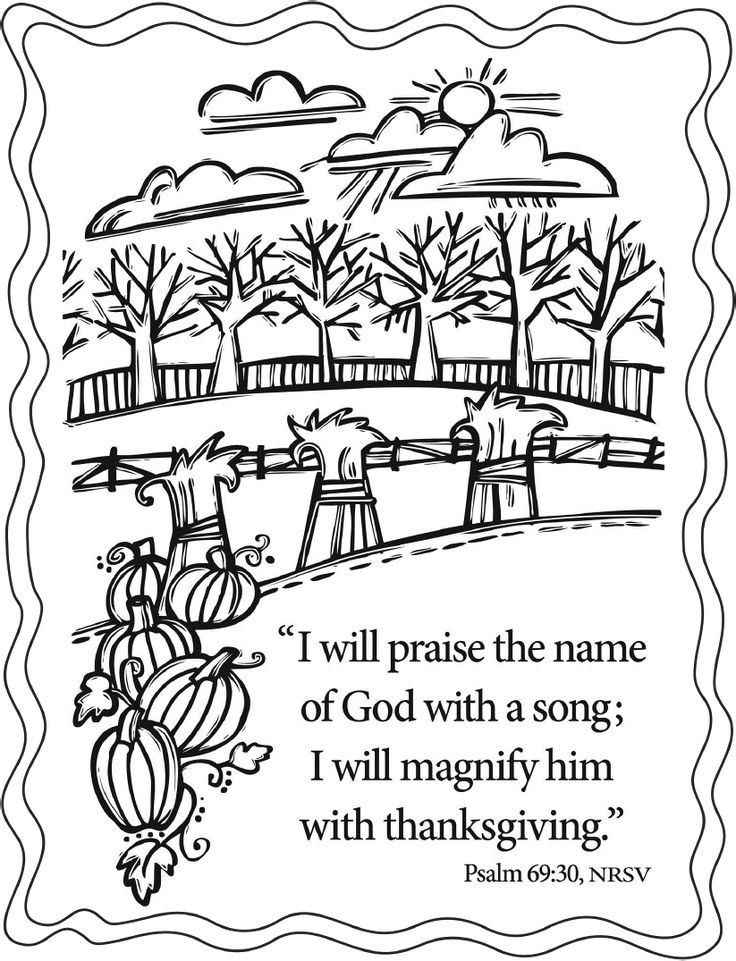 fall christian coloring pages - photo#7