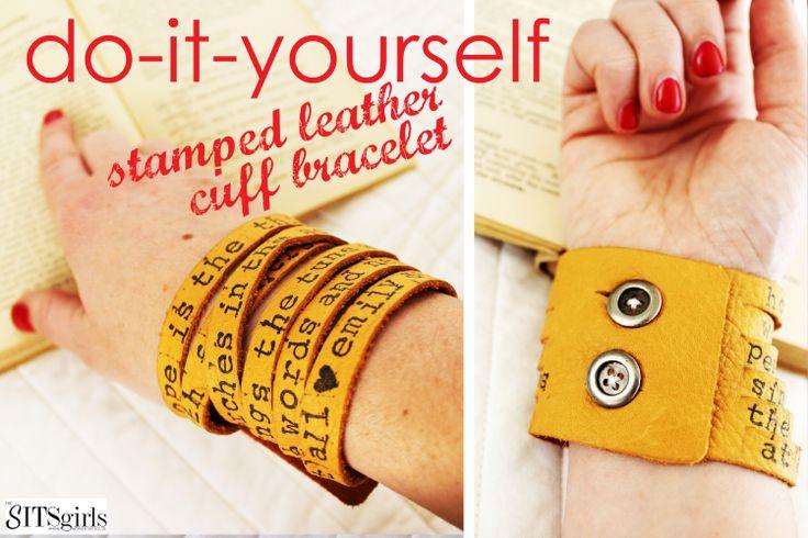 DIY Leather Bracelet - The Sits Girls