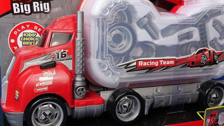 Camión por los niños. Camión con caja de herramientas para niños. Video ...