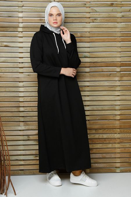 Alia Siyah Spor Elbise