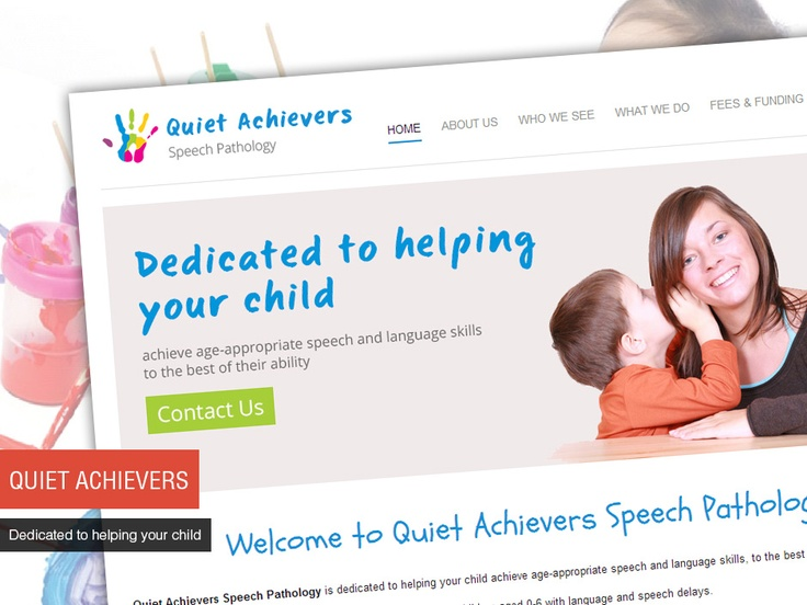 Studio 72 Web Design built a clean and simple website for Quiet Achievers Speech Pathology, with a content management system which enables them to make updates to their website.