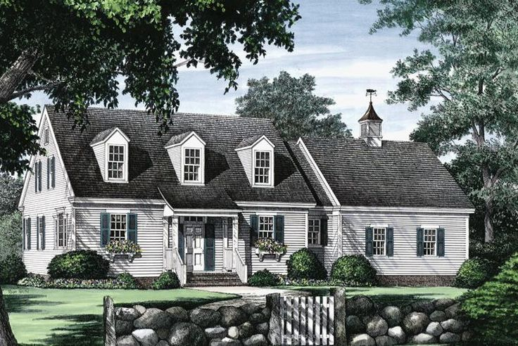 25 best images about cape cod house ii on pinterest for Classic cape cod house plans