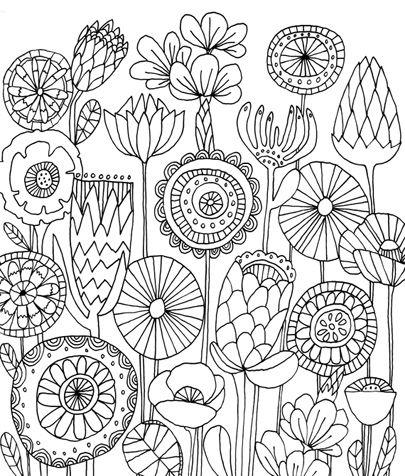 ❤~ Flores para Colorear ~❤   Lisa Congdon ♡