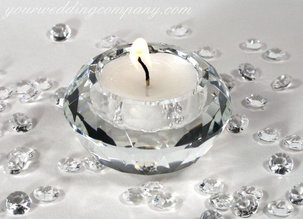 60th+wedding+anniversary+decorations   , White, Table, Candle, Decoration, Holder, Crystal, Your wedding ...