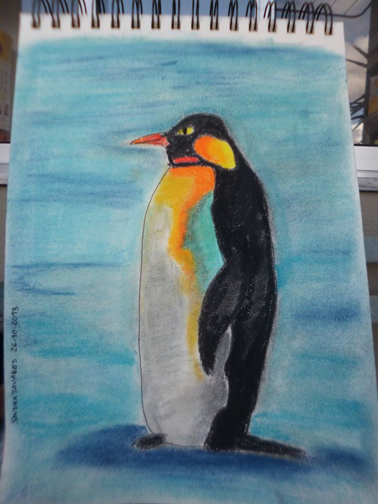 My penguin - soft pastels :) loads of fun doing it!!! 26_10_2013