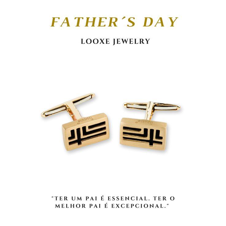 """""""Ter um pai é essencial. Ter o melhor pai é excepcional!"""" // Tener un padre es esencial. Tener el mejor padre excepcional! // Having a father is essential. To have the best father is exceptional! #looxe #looxejewelry #fathersday #diadopai #diadelpadre #pai #father #padre #botoesdepunho #cufflinks #gemelos #prendadiadopai #regalos #gift #lembrançaparadiadopai #prendaparapai BPL4798"""