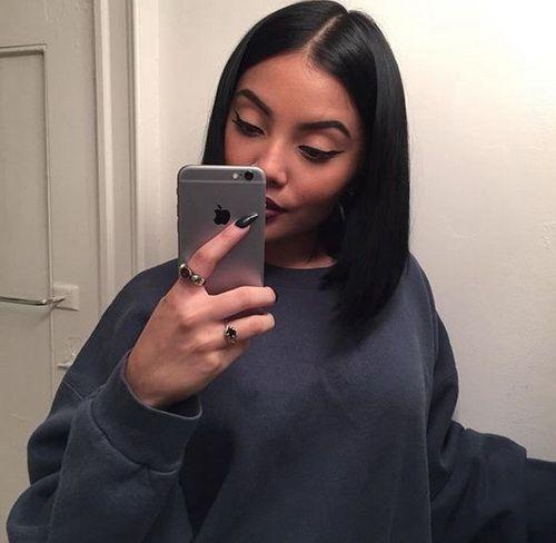 Brazilian Hairstyles 2017 Medium A Line Black Straight Bob