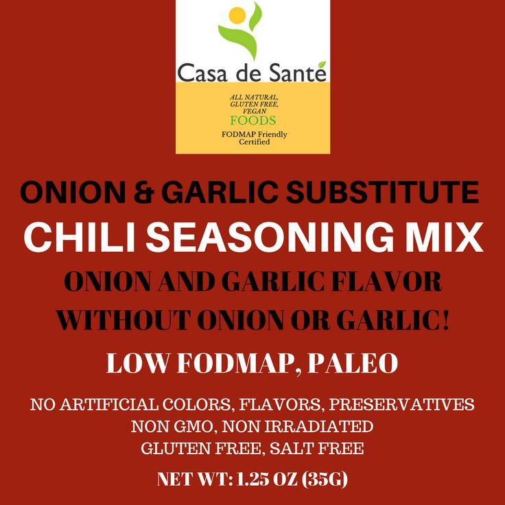 Low FODMAP Spice Mix (Chili Seasoning Mix) - No Onion No Garlic FODMAP Friendly Artisan Onion and Garlic Substitute Seasonings, Paleo