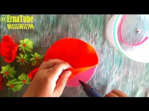 Cara membuat Toples Hias Flanel tahap pertama - YouTube