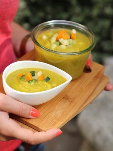 Soupe courgette, panais, carotte