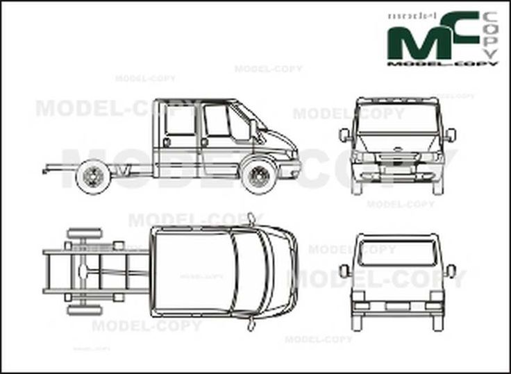 Ford FT 330 M Transit chassis double cabin, medium