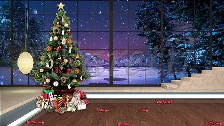 100hd Christmas Tv Virtual Studio Green Screen Background