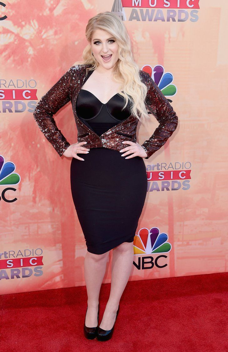 Pin for Later: Hot Music Stars Hit the Red Carpet at the iHeartRadio Awards Meghan Trainor