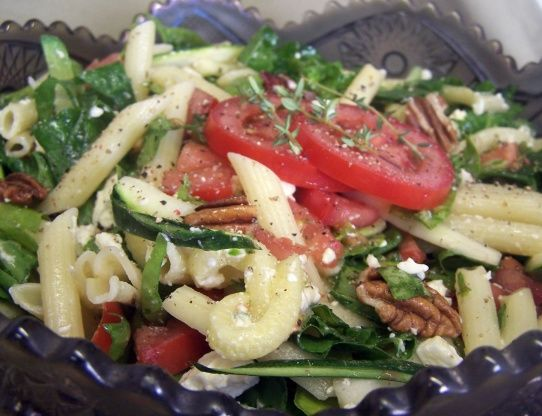 Feta, Spinach And Pecan Pasta Salad Recipe - Southern.Food.com