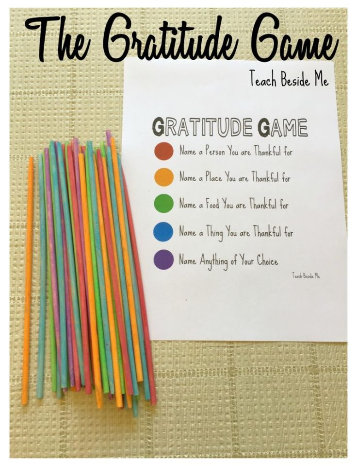 The Gratitude Game....for Thanksgiving Cupcake..trade them according to the color of their cupcake???
