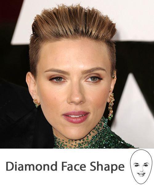 diamond face shapes ideas