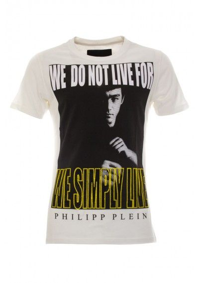 Philipp Plein - 'We Do Not Live For' T-Shirt White (SS14-HM341761)