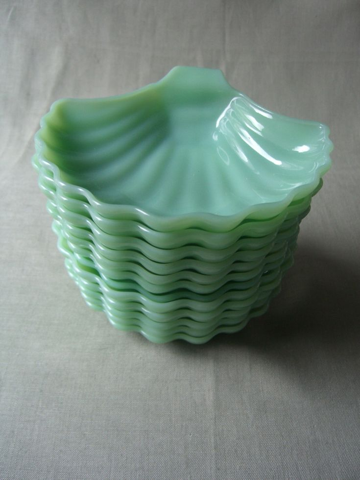 EDDIE ROSS - Object of the Day - Fire King Jadite Shell Candy Dishes