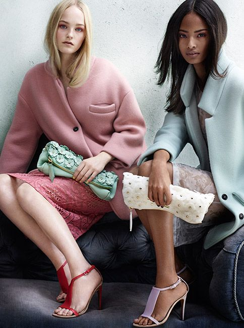 Roses & Petals - the new Burberry Spring/Summer 2014 campaign featuring The Petal runway bag in soft pastel shades