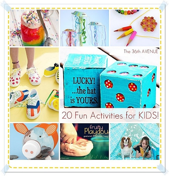 These are the best 20 FUN Activities for kids. We have done a bunch of them and my kids have loved them... Pin it now and do them later ;)