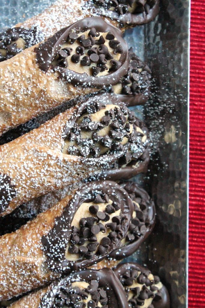Don't let a homemade cannoli intimidate you. If you can find the shells premade they are easy as pie. Easier in fact. And they are stuffed with peanut butter!