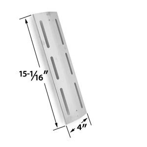 STAINLESS STEEL HEAT PLATE REPLACEMENT FOR KMART, BRINKMANN 4 BURNER 8401, 810-8410-F, 810-8410-S, PORTLAND 8300, 810-8300-F, PRO SERIES 7231, 810-7231-W, PRO SERIES 8300, 810-8300-W, GRILL CHEF PAT502, GRAND HALL AND KENMORE GRILLS