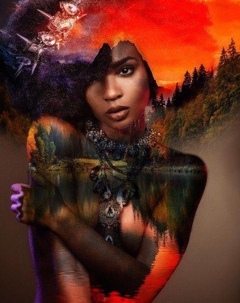 Black Man Paints Nature & The Universe Into Black Women's Natural Hair