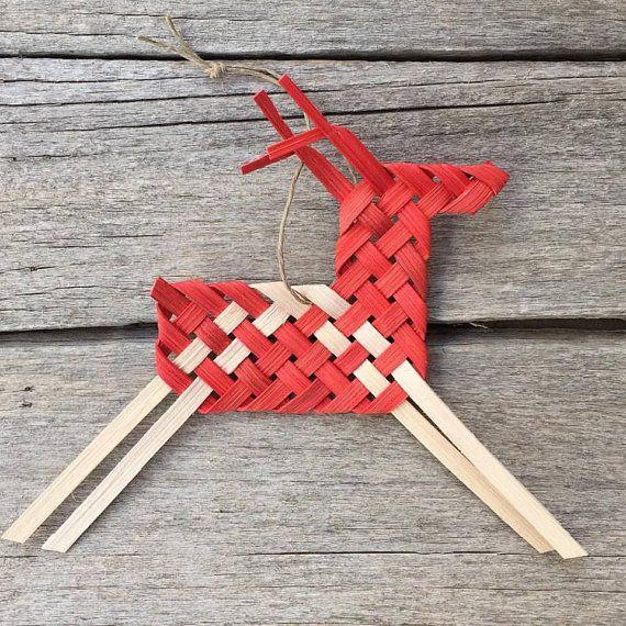 Woven Horse/Reindeer Ornament PDF digital instructions by Baskauta27