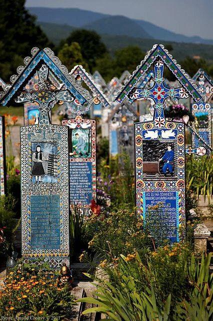 The Merry Cemetery in Săpânţa Maramureş county Romania