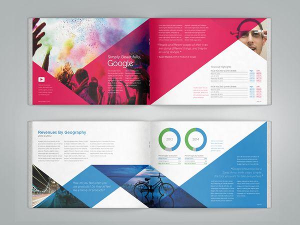 Google Annual Report on Behance