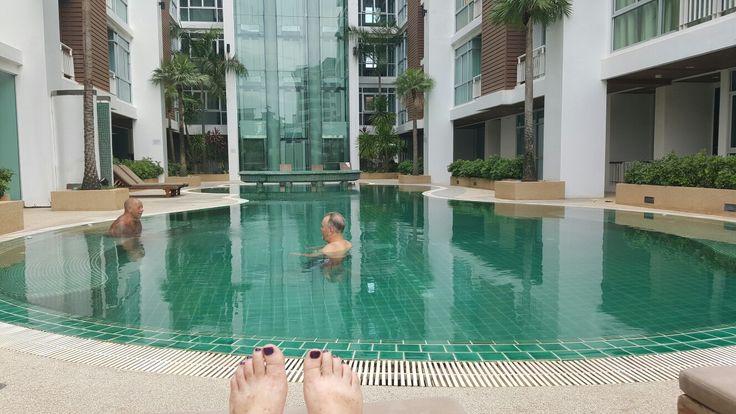 Swimming at D Varee Patong Thailand