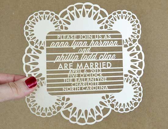 Convites de Casamento cortados a laser: Sofisticação! - Convites de Casamento