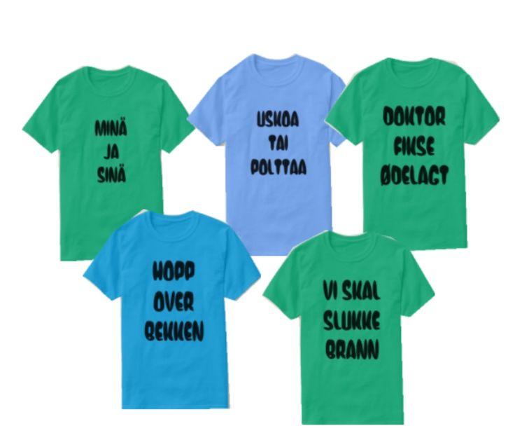 5 unique t-shirts