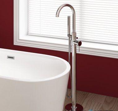 Gladstone Freestanding Bath Mixer Tap with Hand Held Shower Head [PT-TB2017] - £169.39 : Platinum Taps & Bathrooms