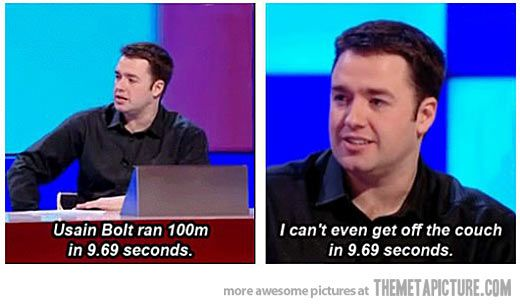 9.69 seconds…