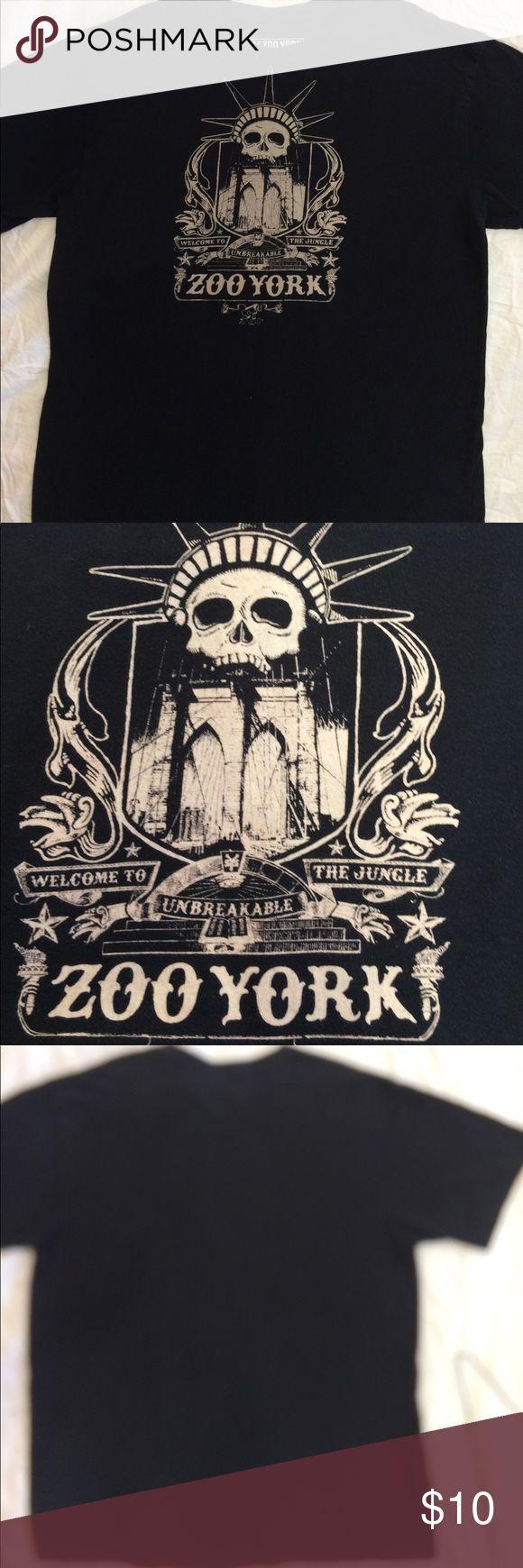 Men's Black Zoo York T Shirt Sz L New York City EST 1993 Sz Large machine Wash Cold 100% Cotton Zoo York Tops Tees - Short Sleeve