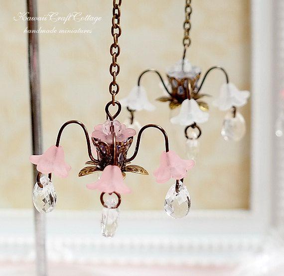 1:12 casa de muñecas miniatura lámpara iluminación Mini luces de techo, lámparas de araña, muñeca casa pantalla de inicio, muebles, antiguo, romántico, Mini, pequeño