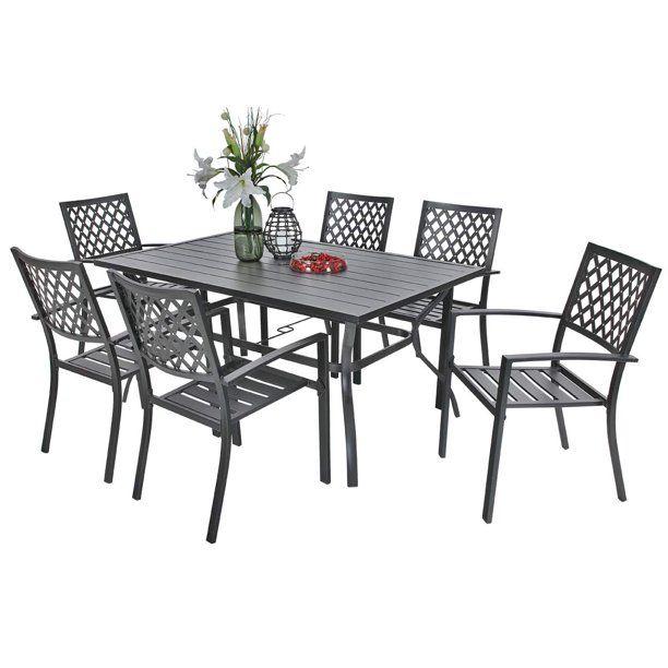 mf studio outdoor dining set of 7 metal