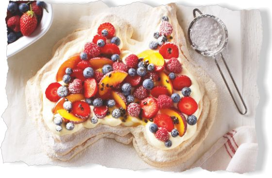 Pavlova. Clipped from Better Homes and Gardens using Netpage.