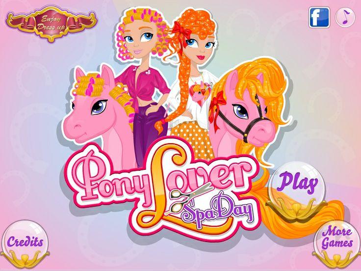 Pony Lover Spa Day  http://www.enjoydressup.com/hairstyle-games/pony-lover-spa-day-7744.html