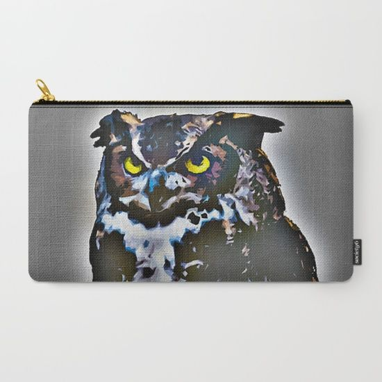 Buy Owl Carry-All Pouch by Animilustration. Worldwide shipping available at Society6.com. Just one of millions of high quality products available.