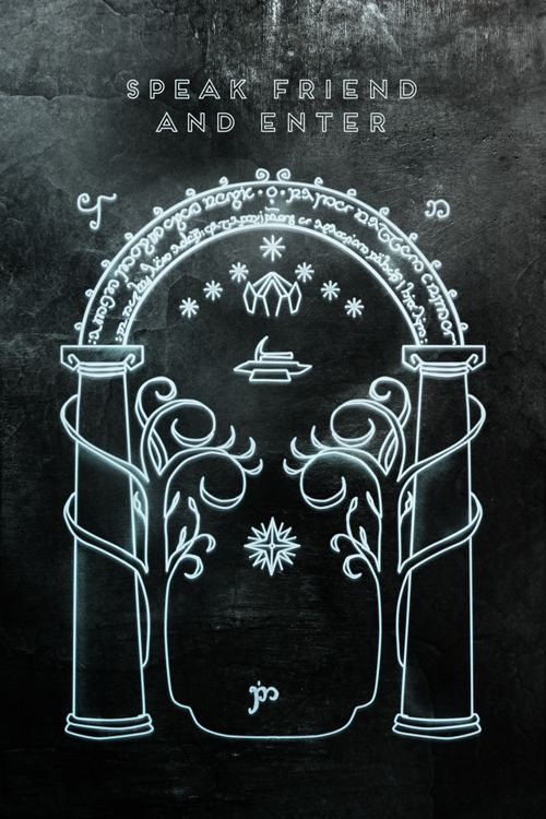 Lord Of The Rings Friend Door