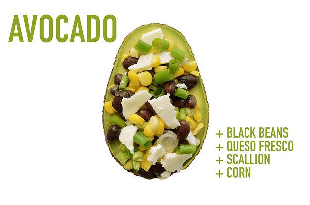Black Beans + Queso Fresco + Scallion + Corn | 17 Impossibly Satisfying Avocado Snacks