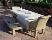 White, Patio Furniture Outdoor Furniture Concrete -N- Counters Lutz, FL