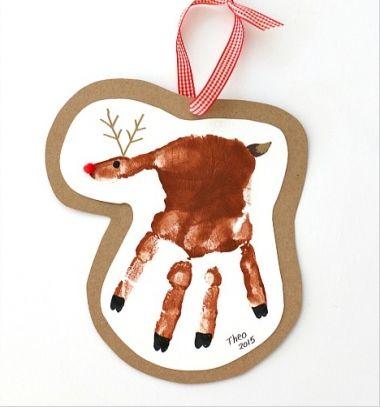 Palm print reindeer - Christmas keepsake card // Tenyérlenyomat rénszarvas - karácsonyi emlék képeslap // Mindy - craft tutorial collection // #crafts #DIY #craftTutorial #tutorial