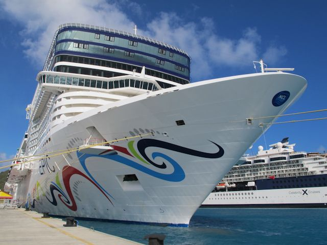 Superior Norwegian Epic Docked In Philipsburg, St Maarten. Cruise PortCaribbean ...