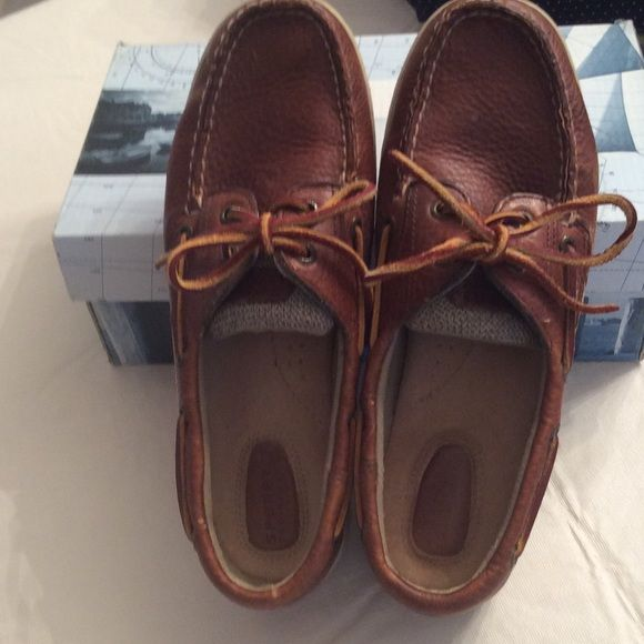 Sperry top sides dock shoes Cute, comfortable, easy on and off. Good condition  box included Sperry Top-Sider Shoes Flats & Loafers