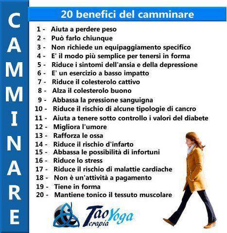 20 benefici del camminare | ispirazioni.info
